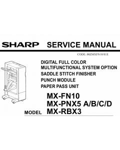 SHARP MX FN10 PNX5 RBX3 Service Manual