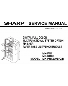 SHARP MX FN11 PNX6 RBX3 Service Manual