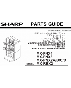 SHARP MX FNX3 FNX4 PNX2 RBX2 Parts Guide Manual