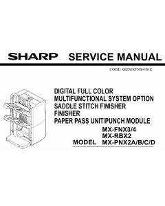 SHARP MX FNX3 FNX4 PNX2 RBX2 Service Manual