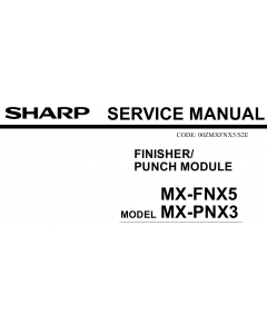 SHARP MX FNX5 PNX3 Service Manual