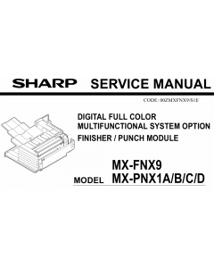 SHARP MX FNX9 PNX1 Service Manual