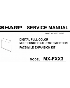SHARP MX FXX3 Service Manual