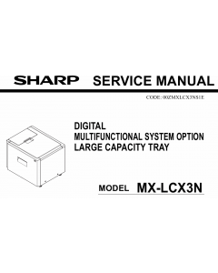 SHARP MX LCX3N Service Manual