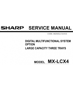 SHARP MX LCX4 Service Manual