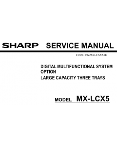 SHARP MX LCX5 Service Manual