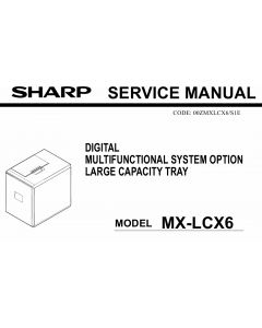 SHARP MX LCX6 Service Manual