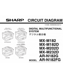 SHARP MX M182 182D 202D 232D ARN182G N182FG Circuit Diagrams