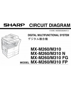 SHARP MX M260 M310 N FG FP Circuit Diagrams