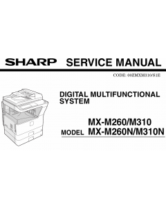 SHARP MX M260 M310 N Service Manual