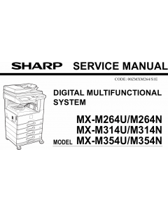 SHARP MX M264 314 354 U-N Service Manual