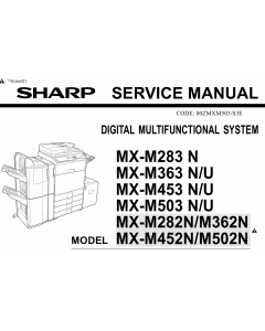 SHARP MX M282 M362 M452 M502 N Service Manual