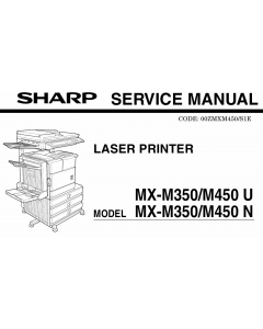 SHARP MX M350 M450 N U Service Manual