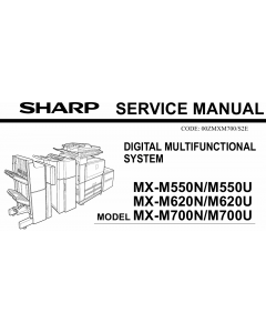 SHARP MX M550 M620 M700 N U Service Manual