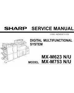 SHARP MX M623 M753 N U Service Manual