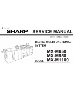 SHARP MX M850 M950 M1100 Service Manual