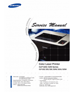 Samsung Color-Laser-Printer CLP-320 325 326 320N 321N 325W Parts and Service Manual