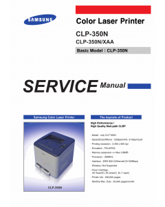 Samsung Color-Laser-Printer CLP-350N Parts and Service Manual