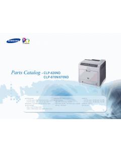 Samsung Color-Laser-Printer CLP-620ND 670N 670ND Parts Manual
