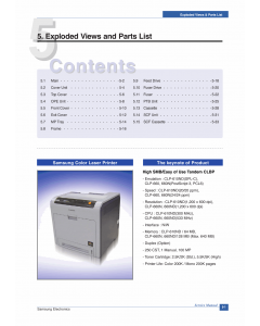Samsung Color-Laser-Printer CLP-660 Parts Manual