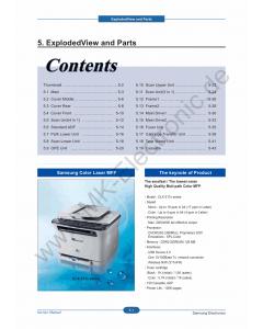 Samsung Digital-Color-Laser-MFP CLX-3170 3175 Parts Manual