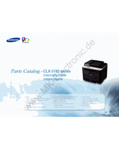 Samsung Digital-Color-Laser-MFP CLX-3185 N W FN FW Parts Manual
