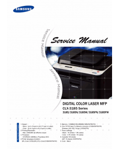 Samsung Digital-Color-Laser-MFP CLX-3185 Series N W FN FW Parts and Service Manual