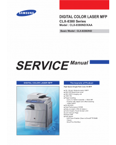 Samsung Digital-Color-Laser-MFP CLX-8380 8380ND Parts and Service Manual