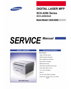 Samsung Digital-Laser-MFP SCX-4200 Parts and Service Manual