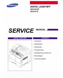 Samsung Digital-Laser-MFP SCX-5312F 5112 Parts and Service Manual