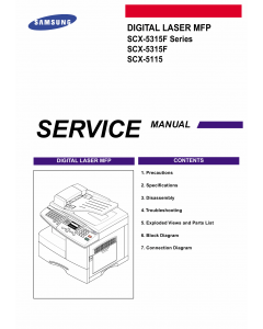 Samsung Digital-Laser-MFP SCX-5315F 5115 Parts and Service Manual