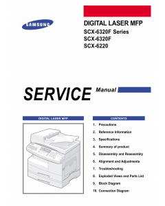 Samsung Digital-Laser-MFP SCX-6320F 6220 Parts and Service Manual