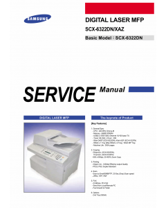 Samsung Digital-Laser-MFP SCX-6322DN XAZ Parts and Service Manual