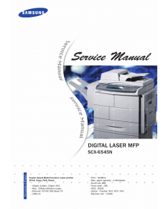 Samsung Digital-Laser-MFP SCX-6545N Parts and Service Manual