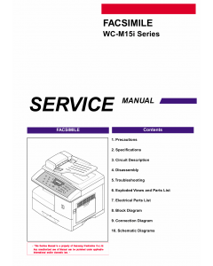 Samsung FACXIMILE WC-M15i Parts and Service Manual