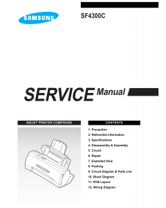 Samsung InkJet-Printer SF-4300C Service Manual