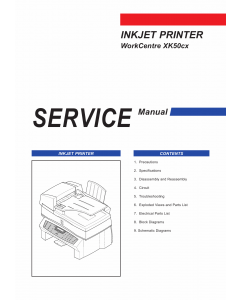 Samsung InkJet-Printer WorkCentre-XK50cx Parts and Service Manual