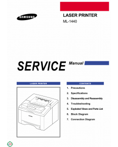Samsung Laser-Printer ML-1440 Parts and Service Manual