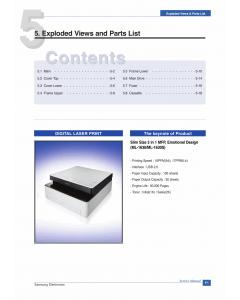 Samsung Laser-Printer ML-1630 1630S Parts Manual