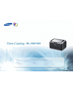 Samsung Laser-Printer ML-1660 1665 Parts Manual