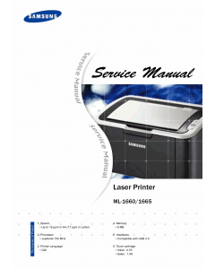 Samsung Laser-Printer ML-1660 1665 Service Manual
