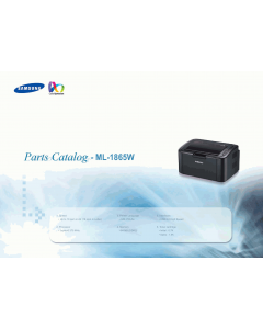Samsung Laser-Printer ML-1865W Parts Manual