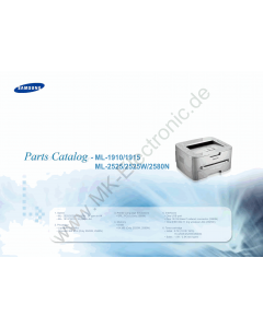 Samsung Laser-Printer ML-1910 1915 2525 2525W 2580N Parts Manual