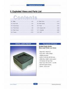 Samsung Laser-Printer ML-2850D 2851ND Parts Manual
