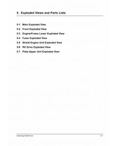 Samsung Laser-Printer ML-4500 Parts Manual