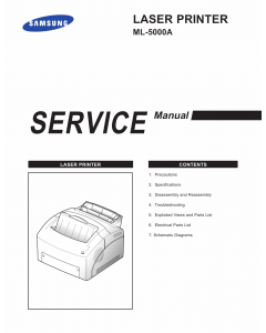 Samsung Laser-Printer ML-5000A Parts and Service Manual
