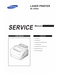 Samsung Laser-Printer ML-5050G Parts and Service