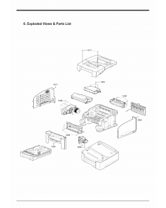 Samsung Laser-Printer ML-7000 Parts Manual