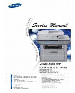 Samsung Mono-Laser-MFP SCX-4833 4835 5637 5639 5737 5739 FR FD HR HD Service Manual