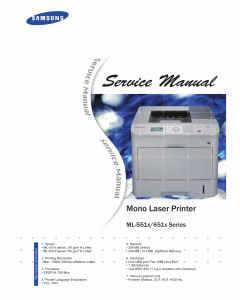 Samsung Mono-Laser-Printer ML-551x 651x Service Manual